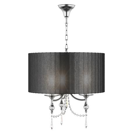 Подвесная люстра Lightstar Paralume 725037, 3xE14x40W, прозрачный, хром, черный, металл, хрусталь, текстиль