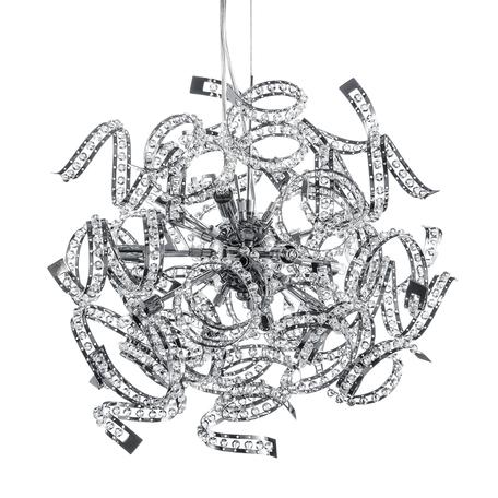 Подвесная люстра Lightstar Spider 742194, 9xG9x40W, хром, прозрачный, металл, хрусталь