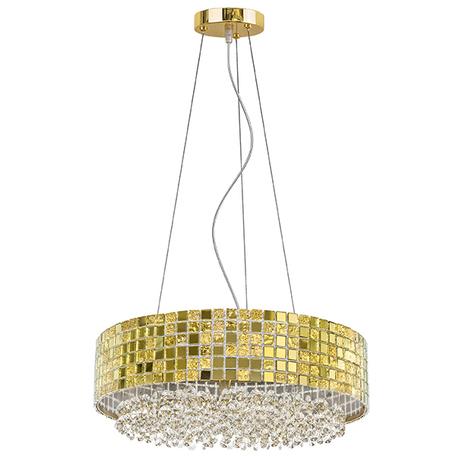 Подвесная люстра Lightstar Bezazz 743162, 6xG9x40W, золото, прозрачный, металл, пластик, стекло