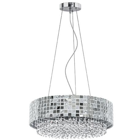 Подвесная люстра Lightstar Bezazz 743164, 6xG9x40W, хром, прозрачный, металл, пластик, стекло