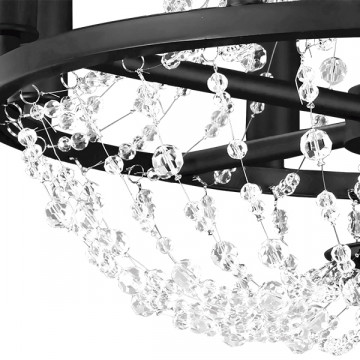 Подвесная люстра Lightstar Castello 744088, 8xE14x40W, черный, прозрачный, металл, ковка, хрусталь - миниатюра 2