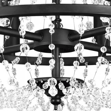 Подвесная люстра Lightstar Castello 744088, 8xE14x40W, черный, прозрачный, металл, ковка, хрусталь - миниатюра 4