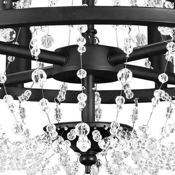 Подвесная люстра Lightstar Castello 744088, 8xE14x40W, черный, прозрачный, металл, ковка, хрусталь - фото 4