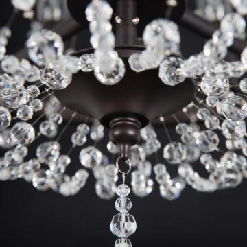 Подвесная люстра Lightstar Castello 744088, 8xE14x40W, черный, прозрачный, металл, ковка, хрусталь - миниатюра 7