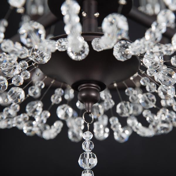 Подвесная люстра Lightstar Castello 744088, 8xE14x40W, черный, прозрачный, металл, ковка, хрусталь - фото 7