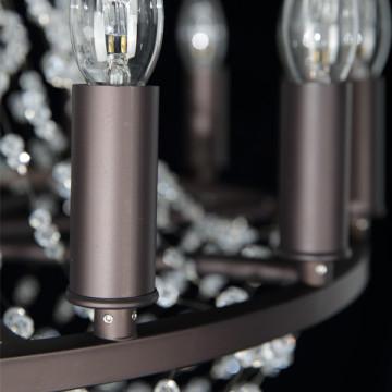 Подвесная люстра Lightstar Castello 744088, 8xE14x40W, черный, прозрачный, металл, ковка, хрусталь - миниатюра 8