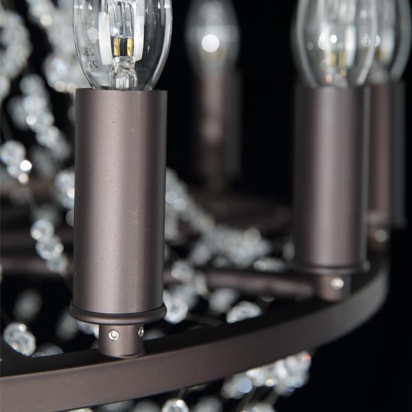 Подвесная люстра Lightstar Castello 744088, 8xE14x40W, черный, прозрачный, металл, ковка, хрусталь - фото 8