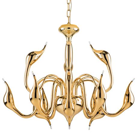 Подвесная люстра Lightstar Cigno Collo 751122, 12xG4x20W, золото, металл