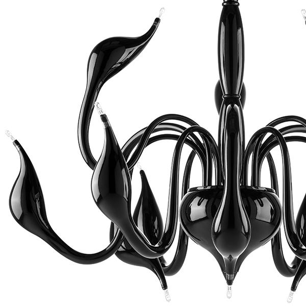 Подвесная люстра Lightstar Cigno Collo 751127, 12xG4x20W, черный, металл - фото 4