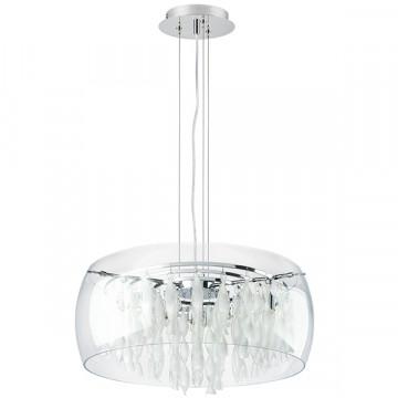 Подвесная люстра Lightstar Acquario 752084, 8xG9x40W, хром, прозрачный, металл, стекло, хрусталь