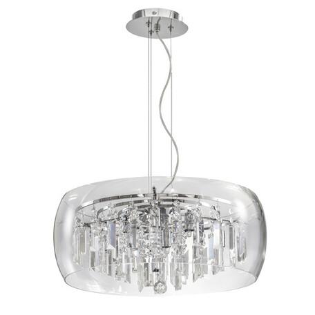 Подвесная люстра Lightstar Acquario 753084, 8xG9x40W, хром, прозрачный, металл, стекло, хрусталь