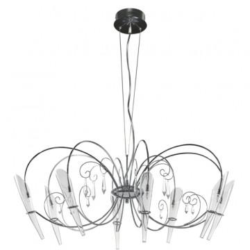 Подвесная люстра Lightstar Scarabeo 755084, 8xG4x35W, хром, прозрачный, металл, стекло, хрусталь
