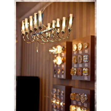 Подвесная люстра Lightstar Owio 757104, 10xG9x40W, хром, белый, металл, стекло - миниатюра 2