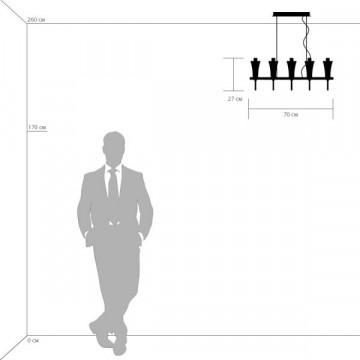 Подвесная люстра Lightstar Owio 757104, 10xG9x40W, хром, белый, металл, стекло - миниатюра 3