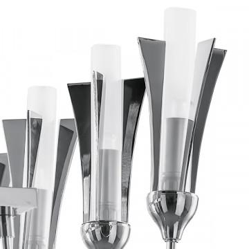 Подвесная люстра Lightstar Owio 757104, 10xG9x40W, хром, белый, металл, стекло - миниатюра 4