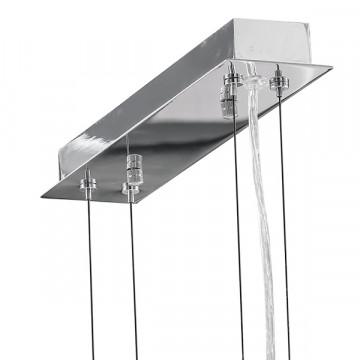 Подвесная люстра Lightstar Owio 757104, 10xG9x40W, хром, белый, металл, стекло - миниатюра 6