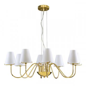 Подвесная люстра Lightstar Diafano 758082, 8xG9x40W, золото, белый, металл, стекло