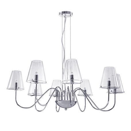 Подвесная люстра Lightstar Diafano 758084, 8xG9x40W, хром, прозрачный, металл, стекло
