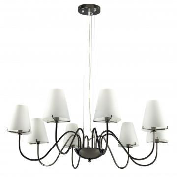 Подвесная люстра Lightstar Diafano 758087, 8xG9x40W, черный хром, белый, металл, стекло