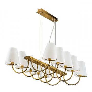 Подвесная люстра Lightstar Diafano 758102, 10xG9x40W, золото, белый, металл, стекло