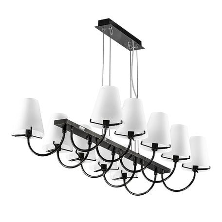 Подвесная люстра Lightstar Diafano 758107, 10xG9x40W, черный хром, белый, металл, стекло