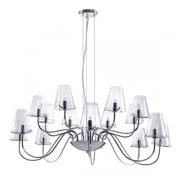 Подвесная люстра Lightstar Diafano 758164, 16xG9x40W, хром, прозрачный, металл, стекло