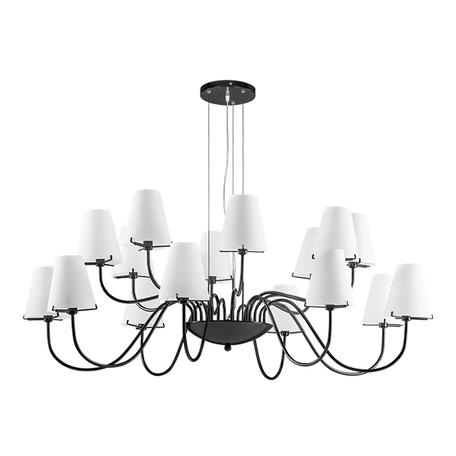 Подвесная люстра Lightstar Diafano 758167, 16xG9x40W, черный хром, белый, металл, стекло