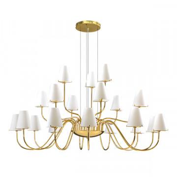 Подвесная люстра Lightstar Diafano 758212, 21xG9x40W, золото, белый, металл, стекло
