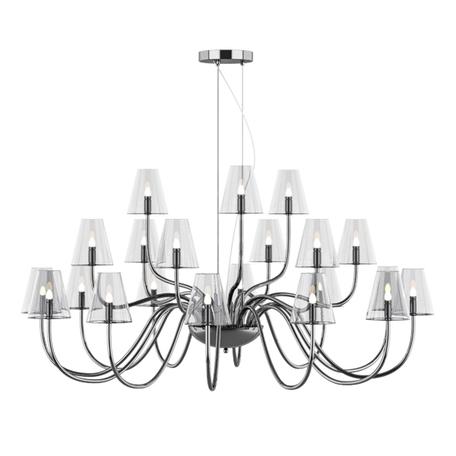 Подвесная люстра Lightstar Diafano 758214, 21xG9x40W, хром, прозрачный, металл, стекло