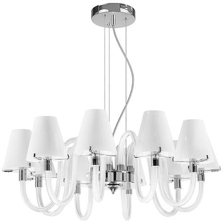 Подвесная люстра Lightstar Bianco 760106, 10xG9x40W, хром, белый, стекло