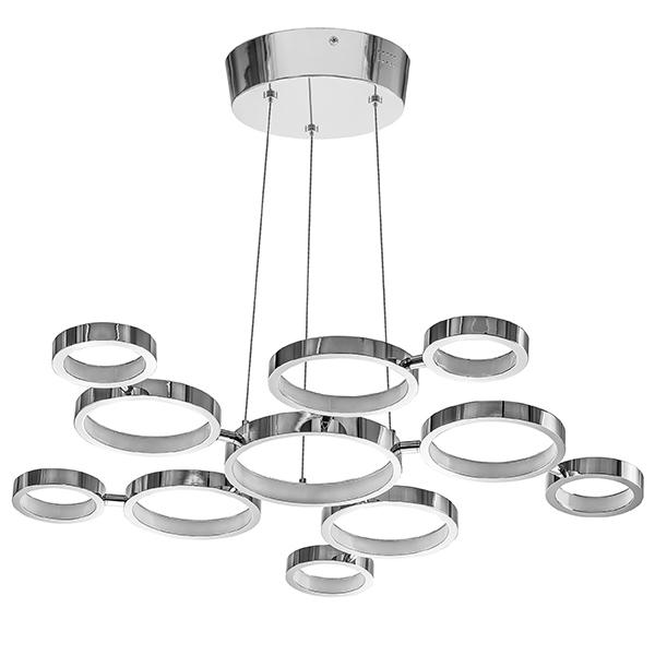 Подвесная светодиодная люстра Lightstar Unitario 763010, IP40, LED 31,5W 4000K 2090lm, хром, металл, пластик - фото 1