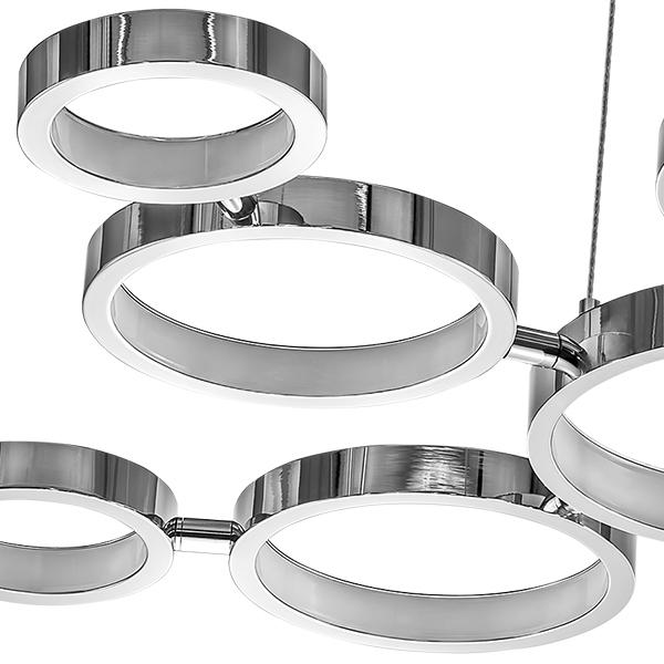 Подвесная светодиодная люстра Lightstar Unitario 763010, IP40, LED 31,5W 4000K 2090lm, хром, металл, пластик - фото 2