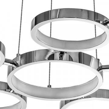 Подвесная светодиодная люстра Lightstar Unitario 763010, IP40, LED 31,5W 4000K 2090lm, хром, металл, пластик - миниатюра 3