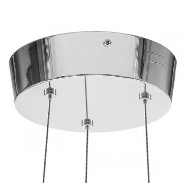 Подвесная светодиодная люстра Lightstar Unitario 763010, IP40, LED 31,5W 4000K 2090lm, хром, металл, пластик - миниатюра 4