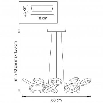 Схема с размерами Lightstar 763010