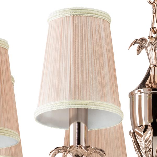 Подвесная люстра Lightstar Osgona Cappa 691084, 8xE14x40W, хром, бежевый, прозрачный, металл, текстиль, хрусталь - фото 2