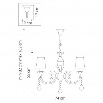 Схема с размерами Lightstar Osgona 691084