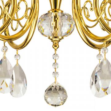 Подвесная люстра Lightstar Osgona Ricerco 693062, 6xE14x40W, золото, белый, прозрачный, металл с хрусталем, текстиль, хрусталь - миниатюра 2