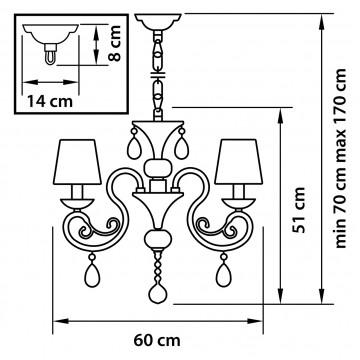 Схема с размерами Lightstar Osgona 693062