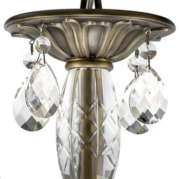 Подвесная люстра Lightstar Osgona Stregaro 694061, 6xE14x60W, бронза, прозрачный, металл с хрусталем, хрусталь - миниатюра 3