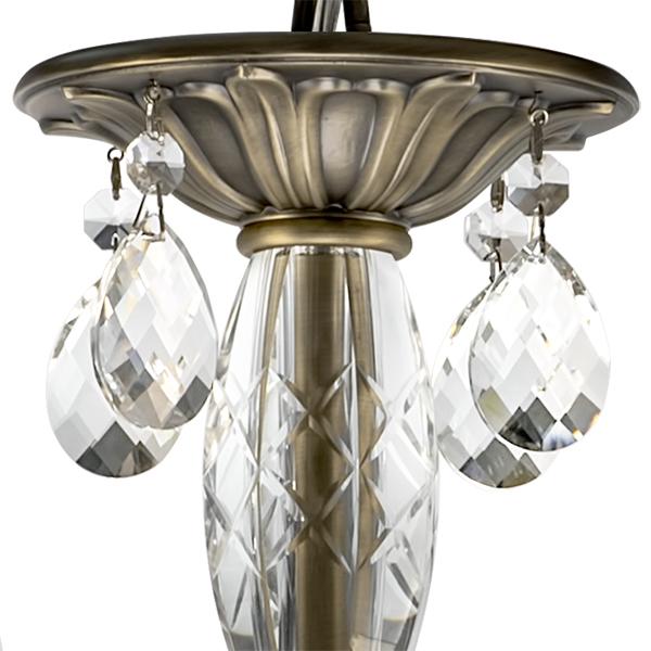 Подвесная люстра Lightstar Osgona Stregaro 694061, 6xE14x60W, бронза, прозрачный, металл с хрусталем, хрусталь - фото 3