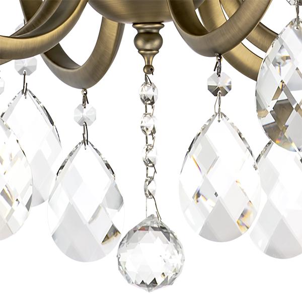 Подвесная люстра Lightstar Osgona Stregaro 694061, 6xE14x60W, бронза, прозрачный, металл с хрусталем, хрусталь - фото 5