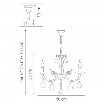 Схема с размерами Lightstar Osgona 694061