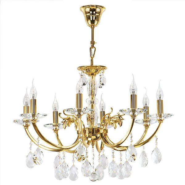 Подвесная люстра Lightstar Osgona Stregaro 694082, 8xE14x60W, золото, прозрачный, металл с хрусталем, хрусталь - фото 1