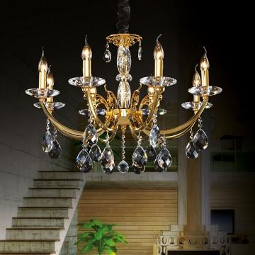 Подвесная люстра Lightstar Osgona Stregaro 694082, 8xE14x60W, золото, прозрачный, металл с хрусталем, хрусталь - миниатюра 4