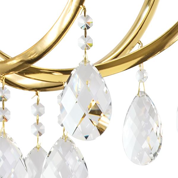 Подвесная люстра Lightstar Osgona Stregaro 694082, 8xE14x60W, золото, прозрачный, металл с хрусталем, хрусталь - фото 6