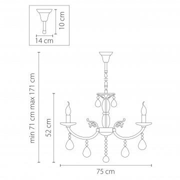 Схема с размерами Lightstar Osgona 694082
