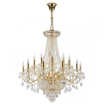 Подвесная люстра Lightstar Osgona Classic 700292, 29xE14x60W, золото, прозрачный, хрусталь