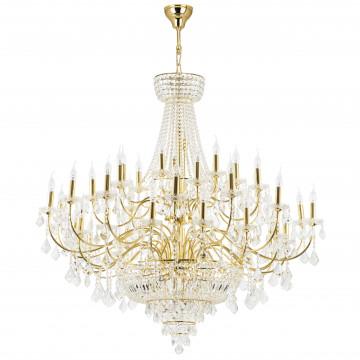 Подвесная люстра Lightstar Osgona Classic 700512, 51xE14x60W, прозрачный с золотом, прозрачный, металл с хрусталем, хрусталь