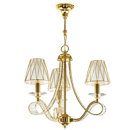 Подвесная люстра Lightstar Osgona Riccio 705032, 3xE14x40W, золото, металл с хрусталем, пластик